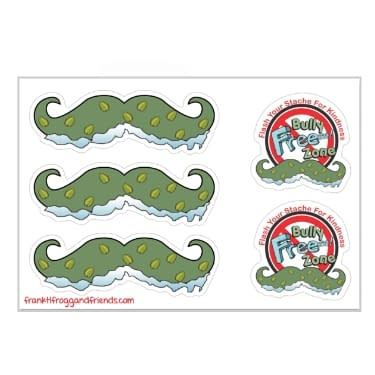 Stickers Flash Your Stache For Kindness